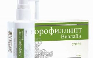 Хлорофиллипт Виалайн спрей | инструкция по применению
