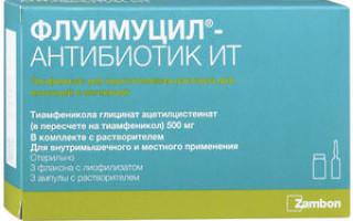 Флуимуцил ИТА антибиотик для ингаляций