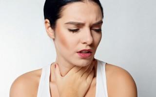 Першение в горле и сухой кашель причины, лечение