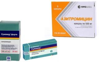 Аналог Сумамеда — Азитромицин