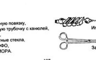 Выбор набора инструментов и приспособлений для плевральной пункции
