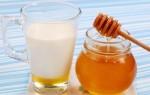 Лечение молоком с медом помогает от боли в горле