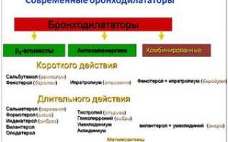 Что такое бронходилататоры, их действие, список препаратов