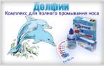 Препарат Долфин для промывания носа: применение и состав
