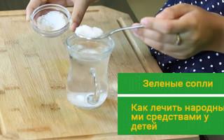 Зеленые сопли у ребенка лечение народными средствами