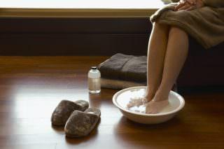 ванна для ног при болезни горла