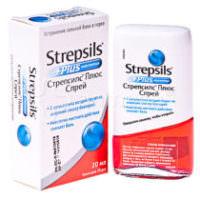 стрепсилс плюс от горла спрей