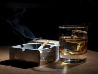 боль в горле от табака и алкоголя