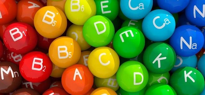 список основных витамин