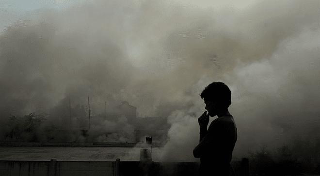 грязный воздух в городе