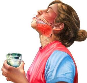 Белые точки в горле - полоскания содой