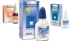 Капли и спрей Полидекса с фенилэфрином в лечении заболеваний носа