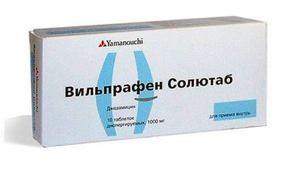 Вильпрафен солютаб - антибиотик в таблетках