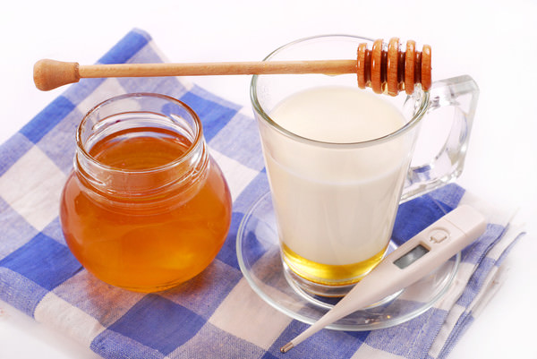 молоко с медом при ангине
