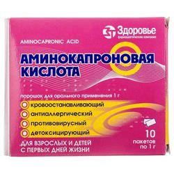 Аминокапроновая кислота при насморке детям: инструкция по применению