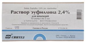 Эуфиллин ампулы - инструкция