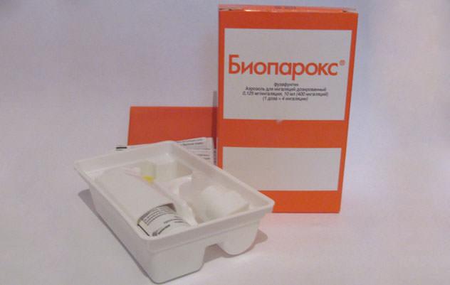 Препарат Биопарокс при ангине