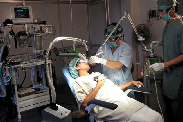 лечение ринита лазером