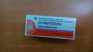 Эуфиллин в таблетках при сильном кашле у взрослых и детей