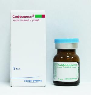 Капли для лечения взрослых Софрадекс