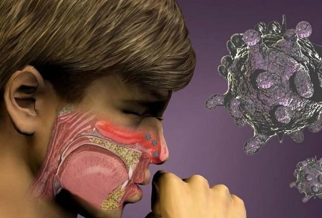 Скопление частиц пыли и грязи в носу