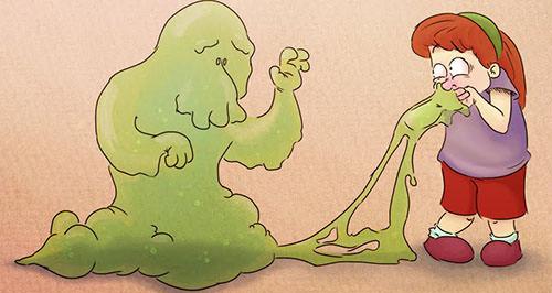 zelenye sopli v gorle