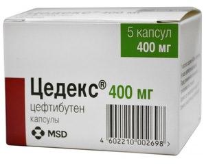 Препарат Цедекс в упаковке - современные антибиотики цефалоспорины