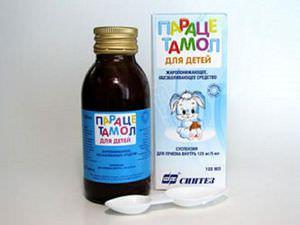 Парацетамол в форме суспензии
