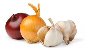 Как лечить насморк луком и чесноком