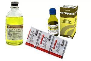 Таблетки фурацилина для полоскания горла